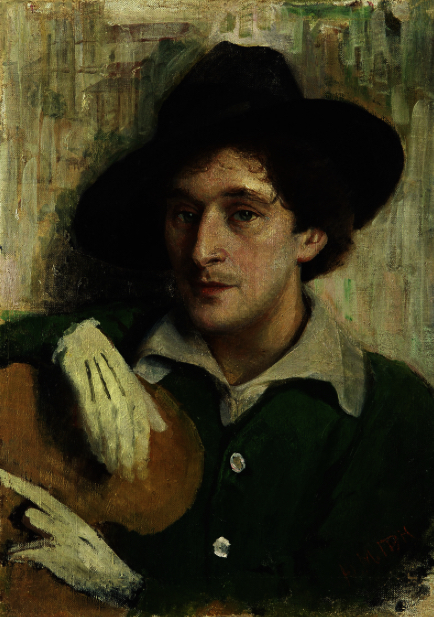 14c Portret van Marc Chagall door Yehuda Pen ca 1915 ... Chagall Doesburg